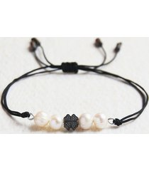 naturalne perły : bransoletka na szczęście