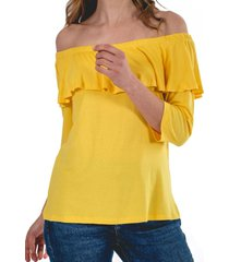 blusa marina amarillo guinda