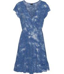 abito di jersey batik con volant (blu) - bodyflirt