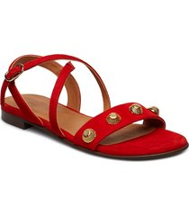 sandals 8625 shoes summer shoes flat sandals röd billi bi