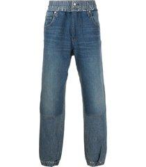 ambush elasticated cuffs hybrid jeans - blue