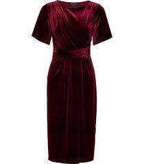 dress knälång klänning röd ilse jacobsen