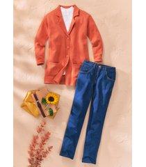 jeans mom fit con cinta comoda (blu) - bpc bonprix collection