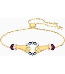 braccialetto tarot magic, multicolore, placcato oro