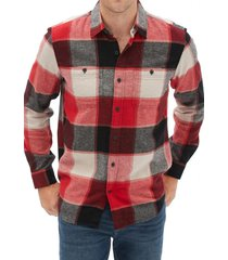 camisa franela rojo gap