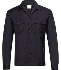 henrik reg shirt overhemd casual blauw oscar jacobson