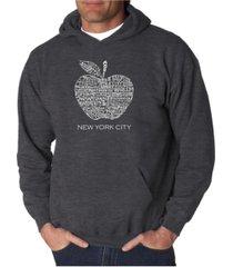 la pop art men's word art hooded sweatshirt - neighborhoods in nyc