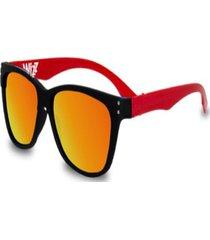 gafas de sol unisex wizz modelo wayfarez color anaranjado.