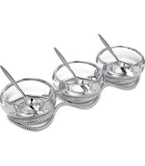 nambe braid triple condiment set
