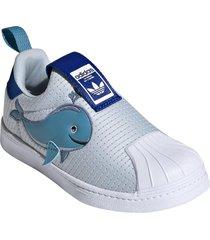 toddler boy's adidas superstar 360 whale primeblue sneaker, size 11 m - blue
