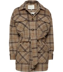 raven jacket nude check ulljacka jacka beige notes du nord