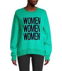 sandro women's women mantra sweatshirt - green - size 3 (l)