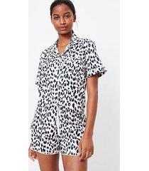 loft leopard print pajama top