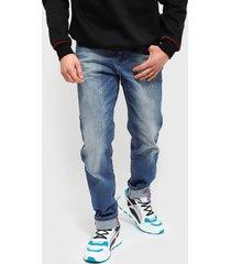 jeans ellus new slim mid blue cinco bolsillos premium azul - calce slim fit