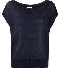 p.a.r.o.s.h. relaxed knit top - blue