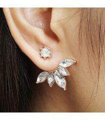 orecchini in oro argento placcato in oro zircone