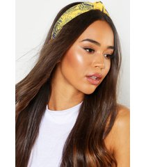 bright palm knot top headband, yellow