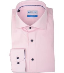 bos bright blue overhemd langemouw roze 20106we63bo/620 pink