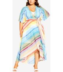 city chic trendy plus size gelato stripe maxi dress