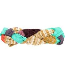 missoni mare fine-knit braid headband - gold