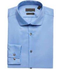 calvin klein infinite light blue non iron extreme slim fit stretch dress shirt
