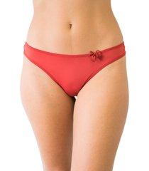 calcinha fio duplo mulher elegante qtal lingerie básico vermelho
