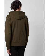 polo ralph lauren men's double knitted full zip hoodie - company olive - xxl