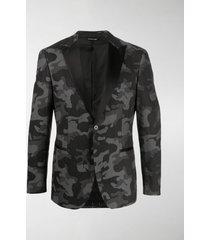 tonello camouflage print smoking jacket