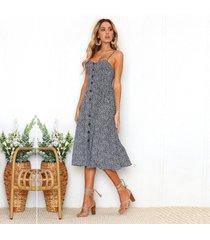 piña de girasol vestido de playa de las mujeres vestidos casuales-gris