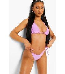 essentials bikini broekje met zijstrikjes, bright lilac