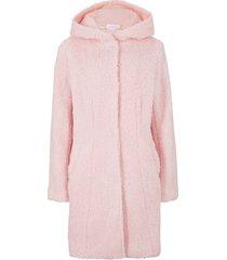 giacca in pellicciotto sintetico con cappuccio (rosa) - bpc bonprix collection