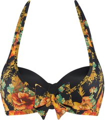 hawaii plunge balconette bikini top | wired padded orange bloom - 70b