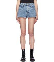 'maya' release hem high rise shorts