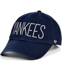 '47 brand women's new york yankees shimmer text cap