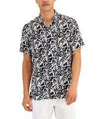 inc international concepts men's geo-print shirt, created for macy's