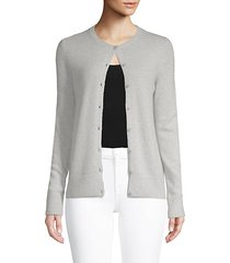 button front cashmere cardigan