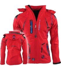 canadian peak heren softshell jas capuchon tourmaline - rood