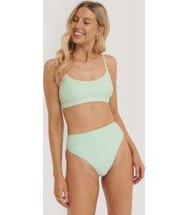 na-kd swimwear maxi highwaist bikini panty - green