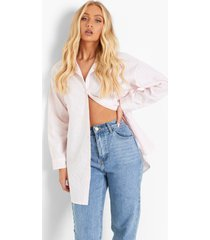 oversized pastel gestreepte blouse, pale pink