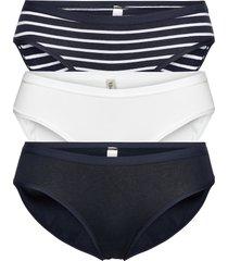brief 3 pack bikini reg print trosa brief tanga blå lindex
