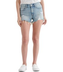 women's lucky brand cut off shorts, size 27 - blue