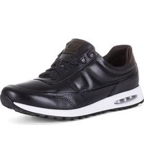 sneaker de cuero contraste 93101