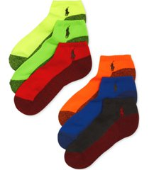 polo ralph lauren men's athletic celebrity sport socks 6-pack