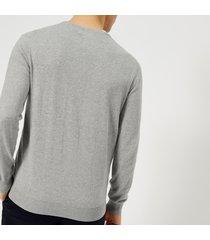 polo ralph lauren men's slim fit cotton sweater - andover heather - xxl - grey