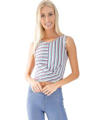 blusa lucy in the sky cropped rosa - kanui