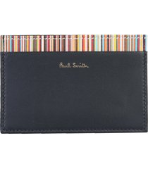 card holder with stripe signatures