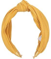 yellow top knot headband
