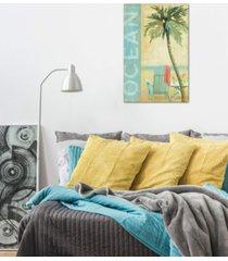 "icanvas ""ocean beach ii"" by daphne brissonnet gallery-wrapped canvas print (40 x 26 x 0.75)"