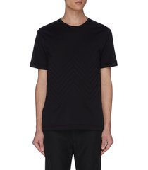 chevron panelled t-shirt
