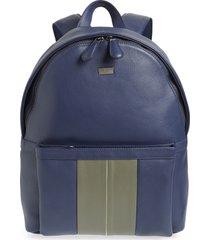 men's ted baker london breads leather backpack - blue